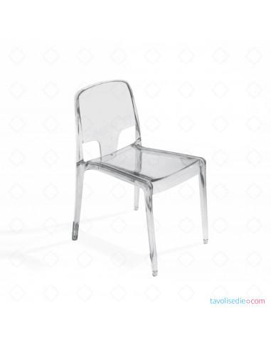 Sedie trasparenti di plastica in policarbonato per stile e ...