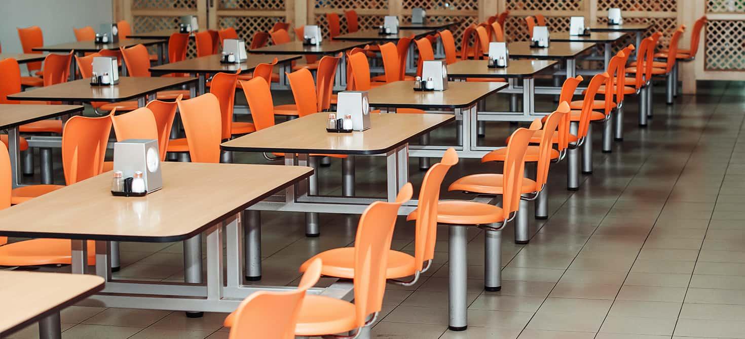 Proporzione arredamento mensa scolastica